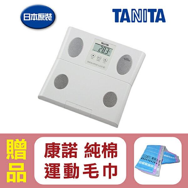 【日本TANITA】塔尼達體脂肪計體脂計BF049(日本製),贈品:康諾純棉運動毛巾x1