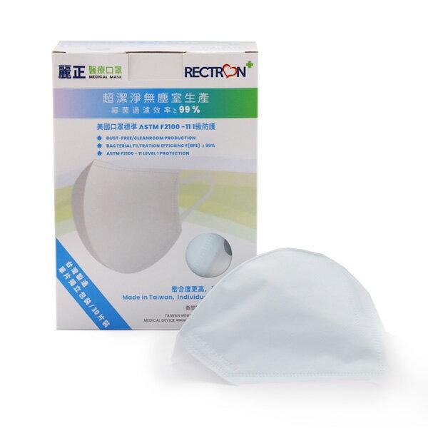 成人3D醫用口罩(天空藍)-寬耳帶/ 50入 / 單片包裝
