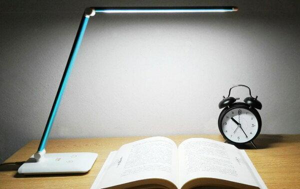 摺疊LED三色調光調色檯燈三色檯燈USB檯燈閱讀燈小夜燈桌燈床頭燈色溫護眼檯燈