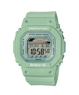 CASIO 卡西歐 復刻經典衝浪板海灘設計潮汐月相休閒電子女錶 防水手錶 綠 BLX-560-3DR 35mm
