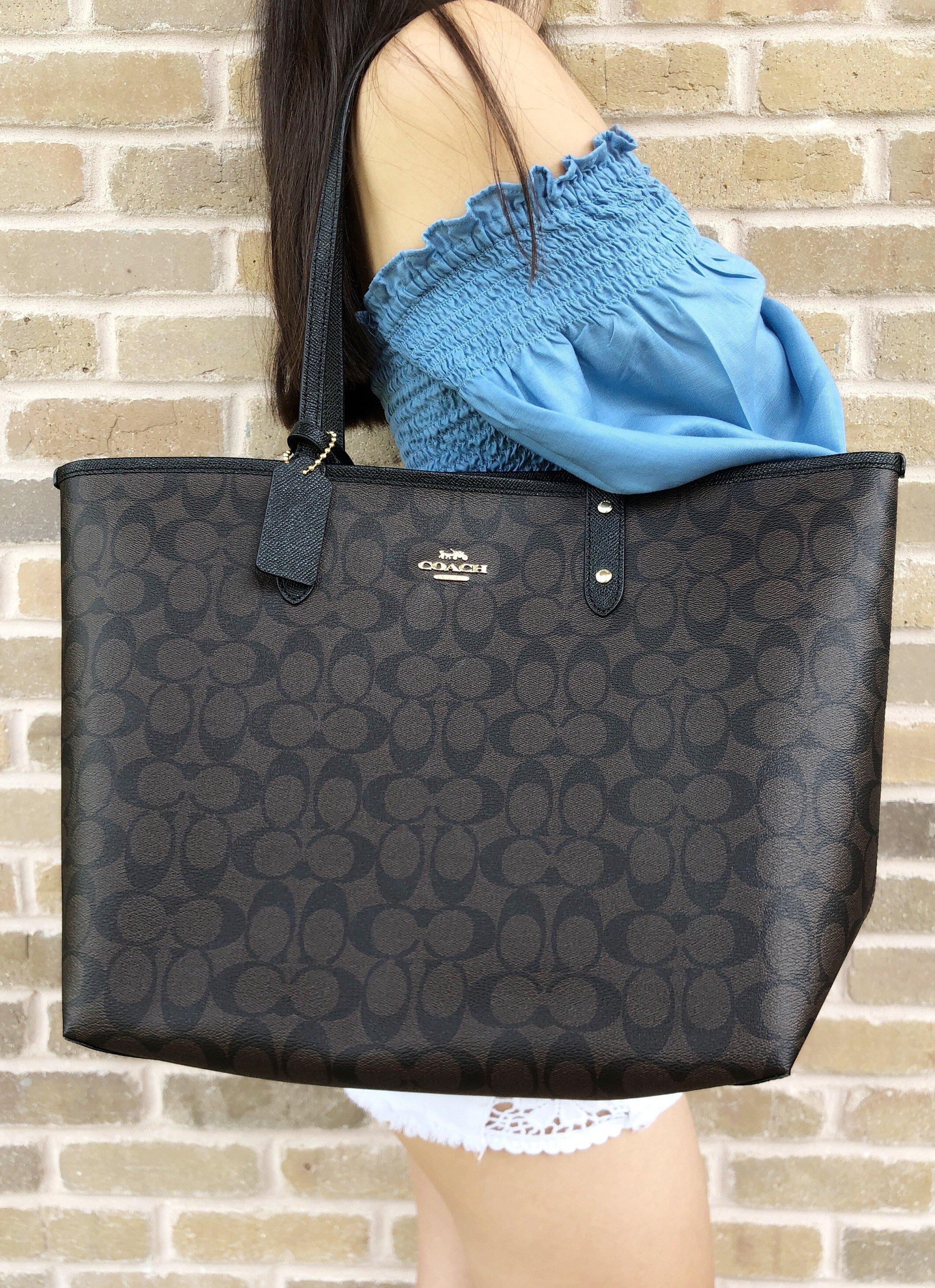 2f4ae11c5e58 Rakuten Home · Gaby s Bags. Coach F36658 Reversible City Tote Signature  Brown Black 0