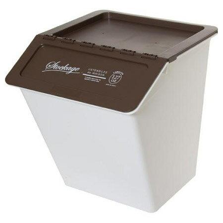 堆疊附蓋收納箱BR可當垃圾桶NITORI宜得利家居