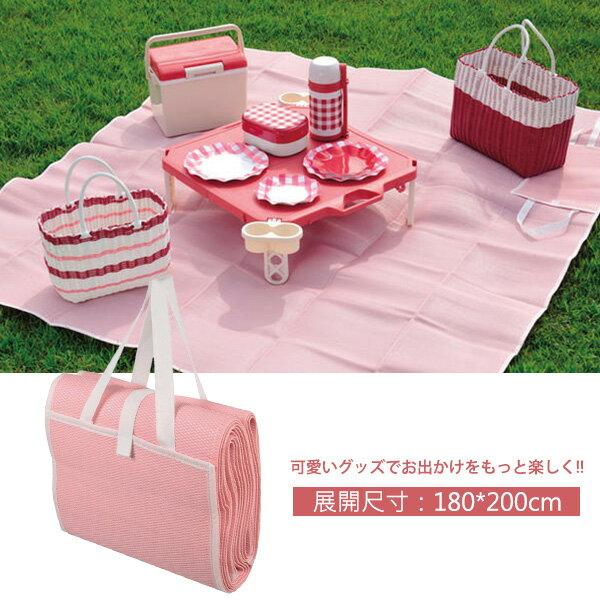 福利品-日本Pearl鹿牌CielCiel日式野餐墊180x200cm粉紅