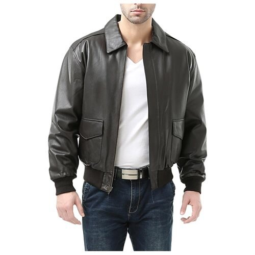 Landing Leathers Men's Air Force A-2 Leather Flight Bomber Jacket 3