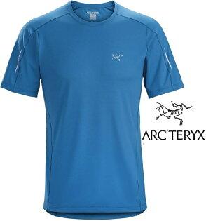 Arcteryx始祖鳥Motus透氣快乾短袖圓領衫登山排汗衣排汗T恤18904男款小灣藍