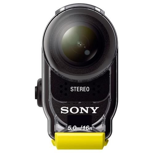 Sony HDR-AS30V Digital Camcorder - Exmor R CMOS - Full HD - Black - 16:9 - 11.9 Megapixel Image - 11.9 Megapixel Video - H.264/MPEG-4 AVC, MP4, MPEG-4 - Electronic (IS) - Speaker, Microphone, GPS - HDMI - USB - Memory Stick Micro (M2), Memory Stick Micro 2