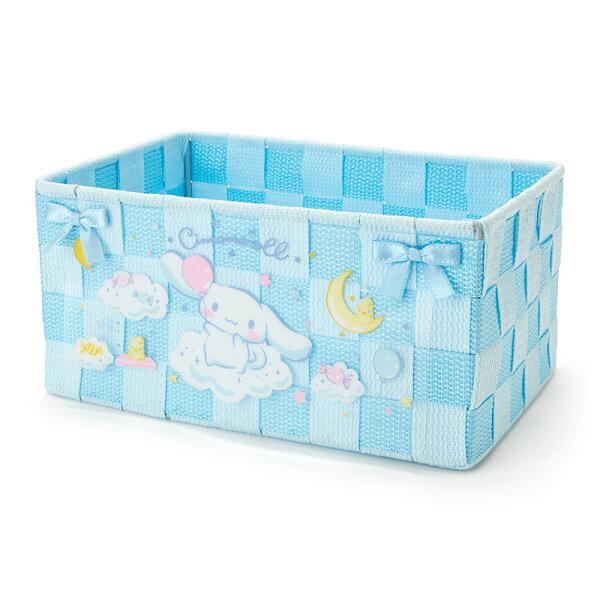 【真愛日本】18050800008編織置物籃M-CN藍ACK三麗鷗大耳狗喜拿狗置物籃收納盒