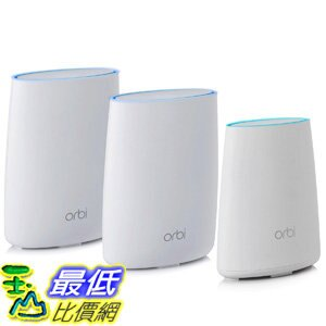 [106美國直購] 家庭WIFI系統 NETGEAR Orbi Home WiFi System Up to 7500 sqft AC3000 Tri-Band WiFi (RBK50)