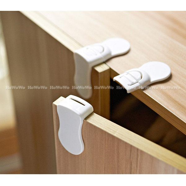 直角鎖 安全防開鎖/抽屜鎖廚櫃鎖 冰箱鎖(2入) RA0075 好娃娃