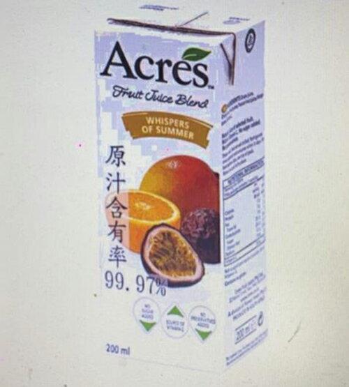 [COSCO代購] W103397 Acres 柳橙百香果綜合果汁 200毫升 X 24入