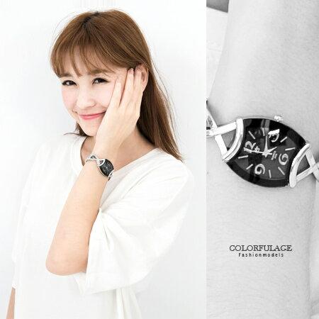 手錶 氣質女孩酒桶造型交叉鏤空手環式設計腕錶 女孩專屬 贈禮盒 柒彩年代【NE1564】單支售價 0