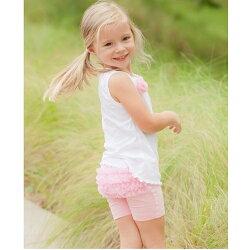 【hella 媽咪寶貝】美國 RuffleButts 小公主甜美荷葉短褲__甜美粉 (BRSP04)