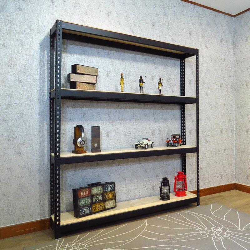 收納架 置物架 書架 層架 鐵架 黑色免螺絲角鋼架 (5.5x1x6尺_4層) 空間特工【B5510641】