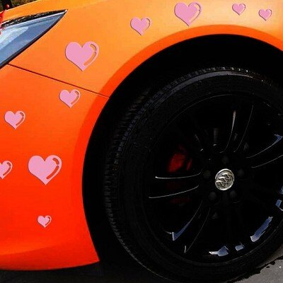 A0148 愛心車身貼 共15顆 車身貼紙 機車貼 自行車貼 葉子板 後窗 引擎蓋 沂軒精品