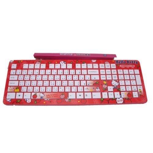 【真愛日本】14041000024   巧克力鍵盤-蘋果   三麗鷗 Hello Kitty 凱蒂貓 電腦週邊 造型鍵盤