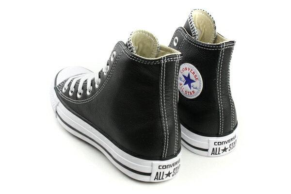 CONVERSE Chuck Taylor All Star Leather 皮革 舒適 基本款 戶外休閒鞋 黑 男女款 132170C no059 1