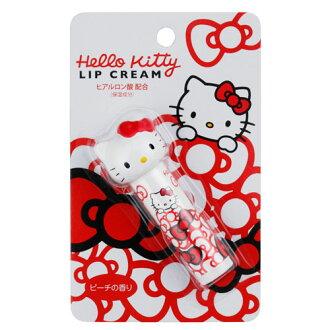 【真愛日本】15111800021 護唇膏-KT立體大頭紅結白  三麗鷗 Hello Kitty 凱蒂貓 唇膏 唇部保養 滋潤