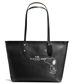COACH F37273 史比努紀念款Snoopy真皮購物袋手提斜側包