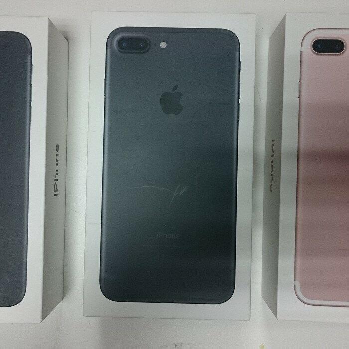 (福利品)APPLE iPhone 7 plus 5.5吋 128G~拆封新機未開通原廠保固一年,送卡通授權殼套+玻璃保貼
