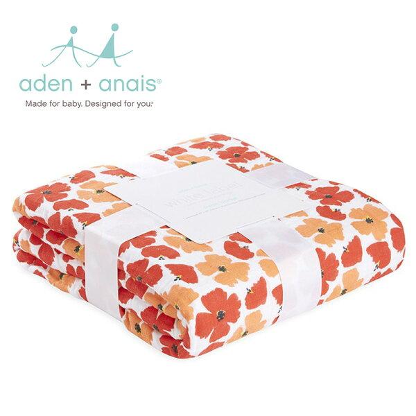 A+A被毯被子寶寶毯蓋毯Aden+Anais美國經典純棉被毯120*120cm-花花世界