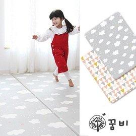 【淘氣寶寶】韓國 DreamB 雙面兒童遊戲地墊-雲朵/幾何 200 x 140 x 1.4(cm)