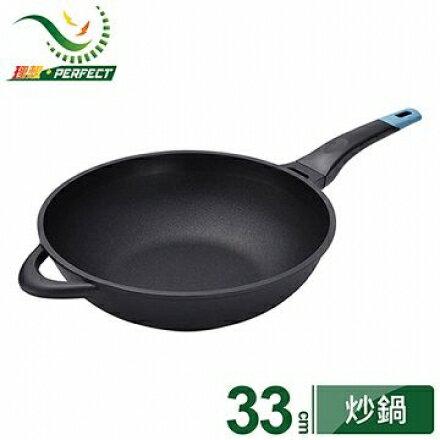 ~理想PERFECT~日式黑金鋼炒鍋 不附蓋  33cm IKH~16033~1