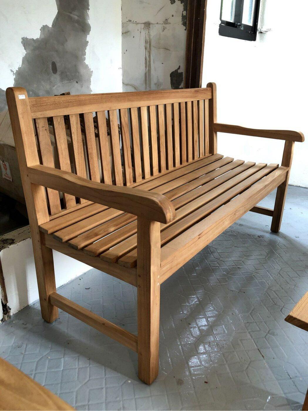 柚木長椅 可放戶外 (L150.5 W63 H92 座高44 cm)