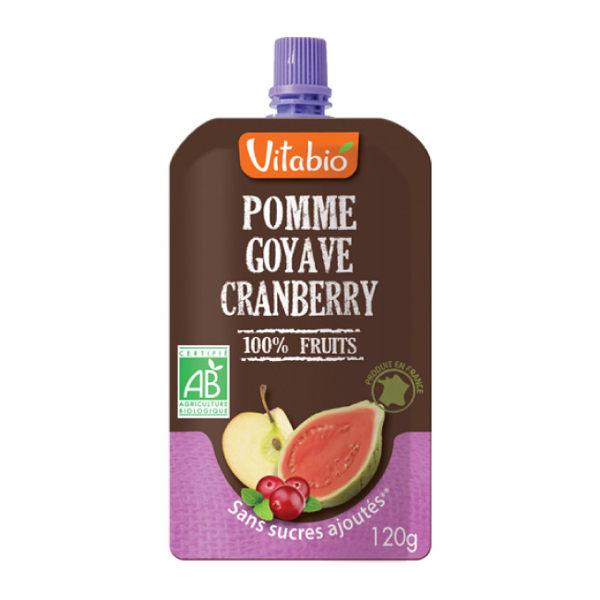法國【倍優babybio】Vitabio 有機優鮮果Plus蘋果紅心芭樂120g