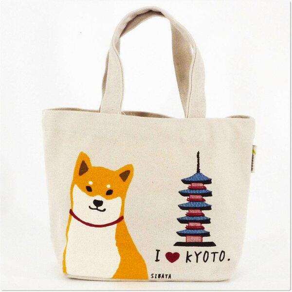 日本WASABI帆布手提包(京都&柴犬)