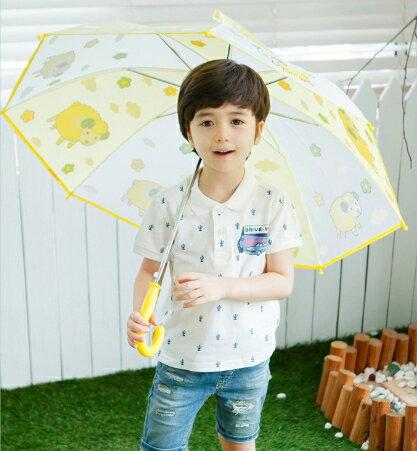 Lemonkid◆正韓可愛蝴蝶星球卡通動物造型兒童雨傘-黃色綿羊