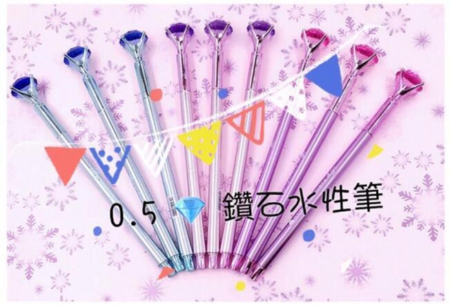 韓國創意文具 熱銷代購 鑽石筆 好寫 0.5水性筆 業務送禮 婚禮小物 原子筆 買三送一❤ Venus Life