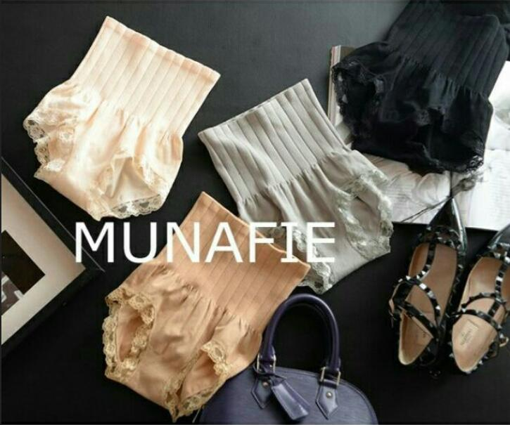 日本 MUNAFIE 無縫高腰 收腹蕾絲內褲 減壓內褲 內褲 新款 拒當小腹婆 現貨 ❤️ Venus Life
