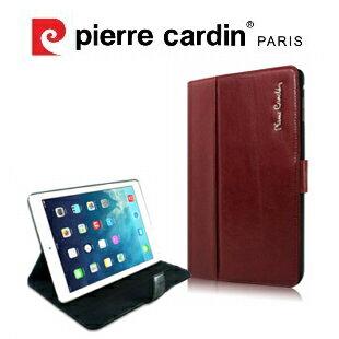 [ iPad mini3 ] Pierre Cardin法國皮爾卡登 iPad頂級二段式支撐翻蓋真皮平板套/保護套/皮套 黑色