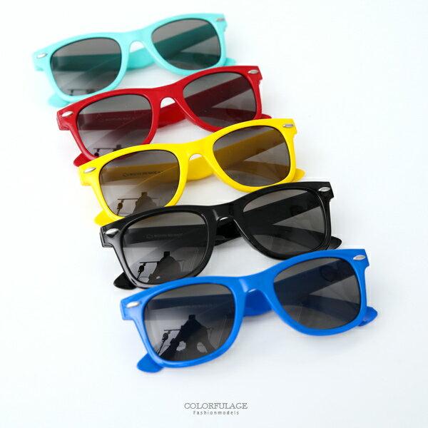 太陽眼鏡橢圓銀點方框繽紛兒童墨鏡繽紛色彩柒彩年代【NY400】單支