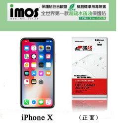 """【愛瘋潮】 99免運  APPLE iPhone X (5.8"""")   iMOS 3SAS 防潑水 防指紋 疏油疏水 螢幕保護"""