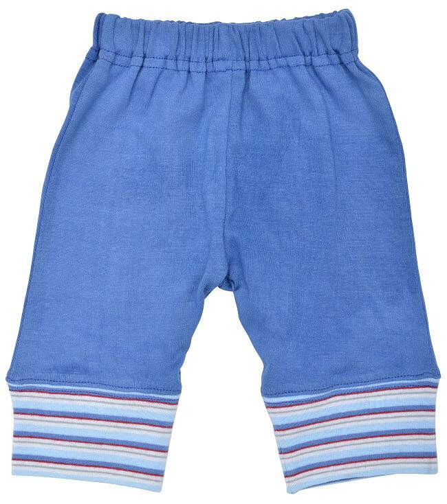 【好優Hoyo】美國Under The Nile有機棉休閒長褲(藍/條紋)6-9個月