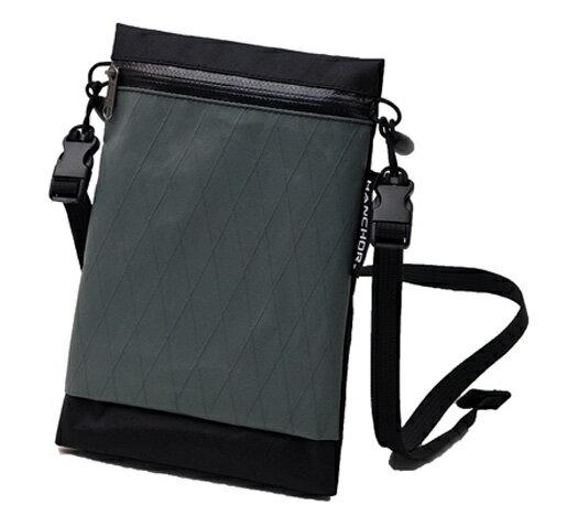 【HANCHOR 台灣】SURFACE MINI 輕量化斜背包-黑灰色 護照包 旅行隨身袋 (OD05)