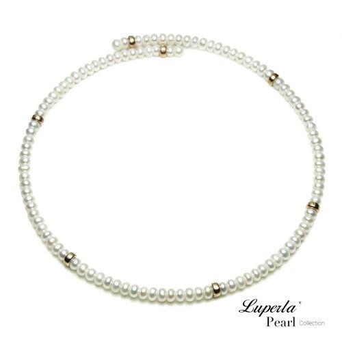 大東山珠寶 浪漫貴族 頸圈項鍊 歐美古典編織珠寶 14K天然珍珠項鍊 0