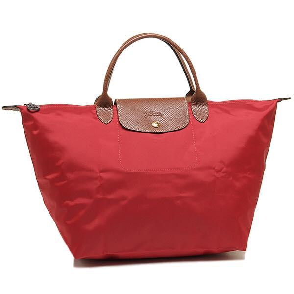 【LONGCHAMP】LE PLIAGE 基本摺疊款/短把水餃包(紅/中) 【全店免運】 ARIBOBO 艾莉波波