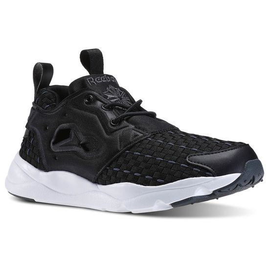 Reebok FURYLITE NEW WOVEN 女鞋 慢跑鞋 休閒 復古 編織 黑色 【運動世界】 V70798