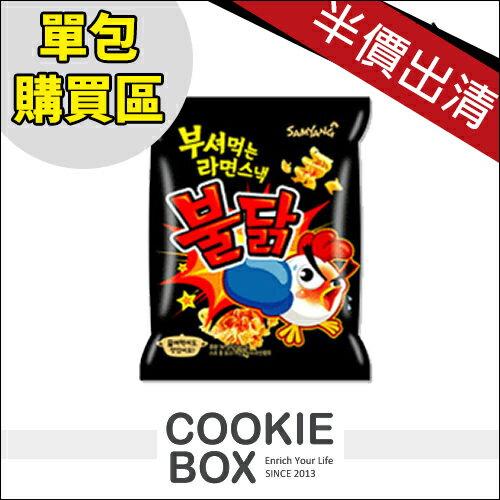 【即期品2017/2/28到期】 韓國 samyang 辣味雞 科學麵 單包 90g 最新 *餅乾盒子*
