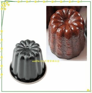 asdfkitty可愛家☆QueenRose日本霜鳥canelé可麗露模型單個-不沾處理-可烤蛋糕.麵包-日本製