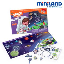 【淘氣寶寶】【西班牙Miniland】深海尋寶磁鐵遊戲板