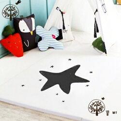 韓國 DreamB 折疊式防撞遊戲地墊-大星星 200 x 140 x 4 (cm)【紫貝殼】