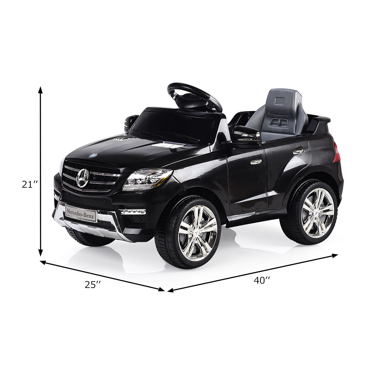 Costway Mercedes Benz Ml350 6v Electric Kids Ride On Car Licensed Mp3 Rc Remote Control 1