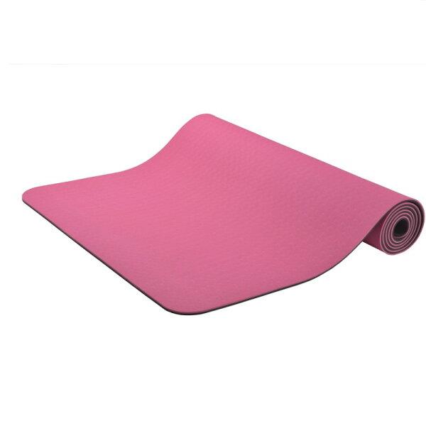 TH3 瑜珈專門店:TH3309高品質TPE瑜伽墊抗菌防滑輕便易攜帶初學型6MM送格仔網包
