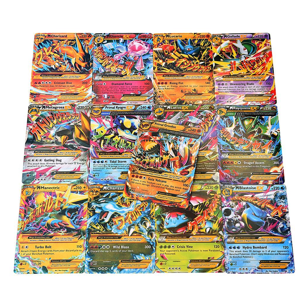 18pcs EX Card Set MEGA Poke Cards Charizard Blastoise Venusaur 3