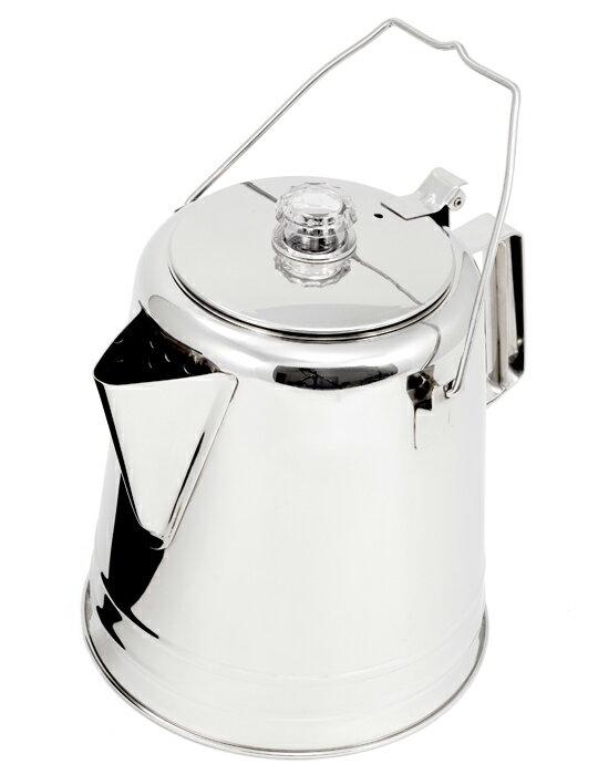 【鄉野情戶外用品店】 GSI |美國| 不銹鋼營火燒水壺/手沖咖啡壺 開水壺/65014 【容量2.1 L】