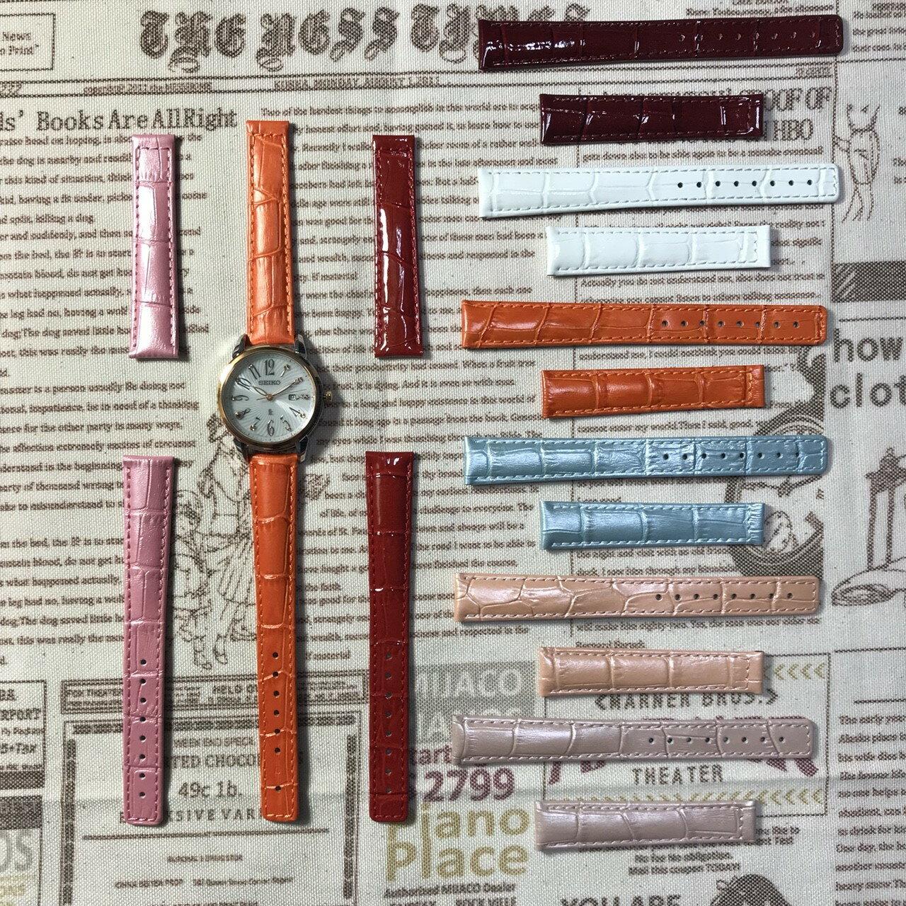 精工錶seiko-LUKIA牛皮專用錶帶15MM/13MM