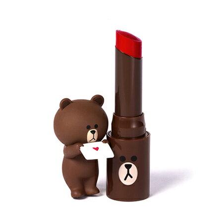 韓國 MISSHA X LINE 聯名款 熊大霧面魅色唇膏 4.1g 霧感 經典持色 口紅 唇彩【N201517】